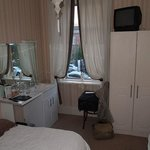 Accommodations included a comfortable bed, more than enough clothes closet space and a full-serv