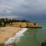 Beach with Pestana resort on headland