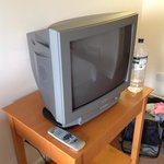 ancient TV with 3 channels.