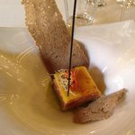 Láminas de mango con salmón