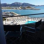 Chambre double de luxe avec balcon vue mer