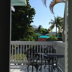 Conch House, Upstairs Bedroom/Living Room Balcony with Bistro Set & View of Sundeck