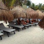Private VIP beach side area
