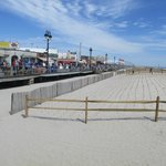 Boardwalk meets the beach
