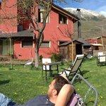 Hamacas del jardín para descansar y tomarte y café mirando las montañas