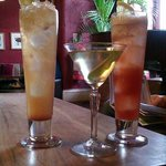 Some examples of cocktails available at the bar