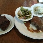 Saturday Special Hamburger steak with two sides. Very good.
