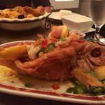 Red snapper stuffed with shrimp