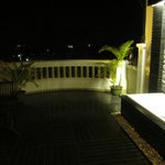 Balcony with shower