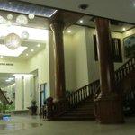 Inside hotel near lobby