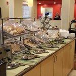 Breakfast in lobby