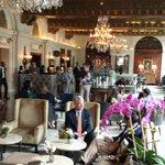The elegant lobby
