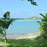 Lagoon. View from resort garden