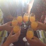 Mimosas upon arrival at Paradisus!