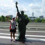 nos gusto esta mini estatua de la libertad
