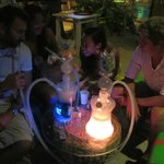 Shisha smoke with friends