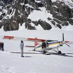 Mount Cook Ski Plane Landed on Tasman Glacier