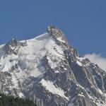 Esta é a vista do Aiguille du Midi do 3º andar do Hotel Alpina