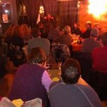A picture from toward the back of the room taken during Comedian Amanda Arnold's set