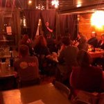 A picture of very happy and well cared-for guests taken during Comedian Gabriel Rutledge's set
