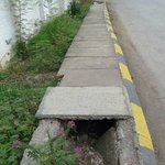 Watch out of holes on the pavement!