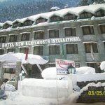 Our hotel in winter