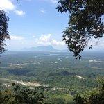 Atop Selang Trial view tower looking north at Mt. Santubong.