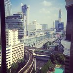 Ratchaprasong intersection from the Grand Club lounge