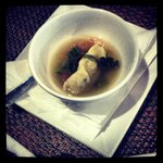 Beef Raviolo a mouse bouche