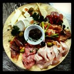 Cold cut and cheeses platter