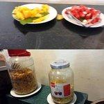 Breakfast cereals in empty maraschino cherry bottle???