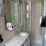 Very narrow bathroom