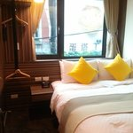 View of big egg tart across the room
