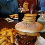 The flaming grill burger challenge!