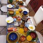 Le petit déjeuner du Riad Dar Khadouj