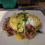 Delicious eggs Benedict!