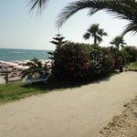 chemin d'accès à la plage