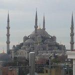 Mosquée bleue vue de la terrasse