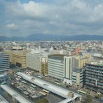 Kyoto tower view from 15th floor