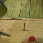 Le sol de notre chambre