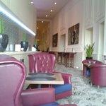 Lovely understated decor lobby/bar area