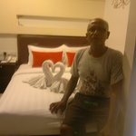 in the hotel room