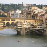 View to Ponte Vecchio from room