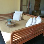 Day bed on balcony