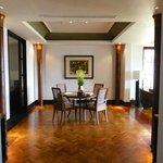 Dining area in one bedroom deluxe suite