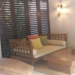 Outdoor seating area in your own villa