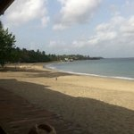 Breakfast view from the beachside dining area