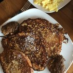French toast and scrambled eggs