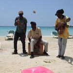 Beach buskers