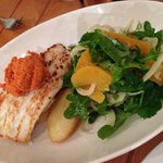 grill blue eye trevalla, the dressing was very good and the side salad was extremely good as wel